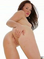 Tight Fay Galloway takes off her sleazy black undies bending over and spreading her ass and pussy