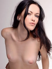 Zemani.com Cherry - Beautiful brunet girl with fresh young body take her clothes off and poses naked exclusively for ZEMANI.